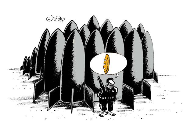 ali ferzat - علي فرزات-  كاريكاتير - عسكرتاريا - 38