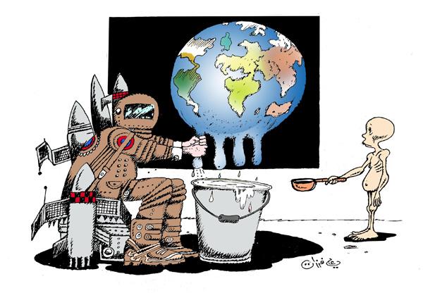 ali ferzat - علي فرزات-  كاريكاتير - فقراء - 39