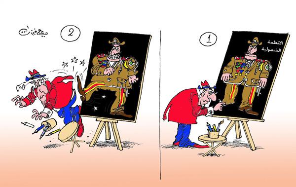 ali ferzat - علي فرزات-  كاريكاتير - عسكرتاريا - 42