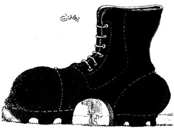 ali ferzat - علي فرزات-  كاريكاتير - عسكرتاريا - 46