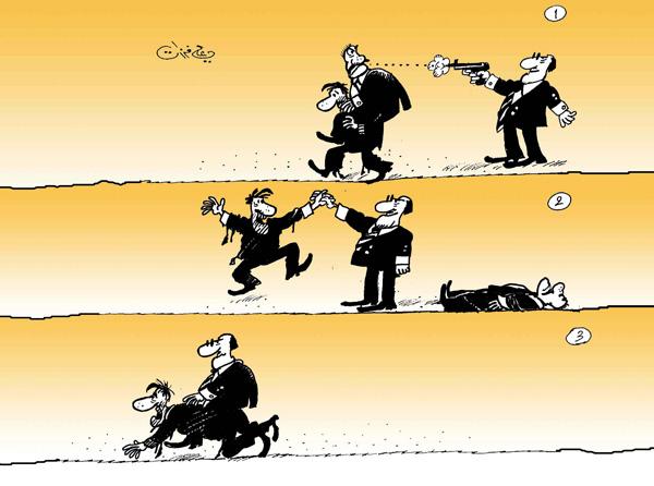 ali ferzat - علي فرزات-  كاريكاتير - قمع - 52