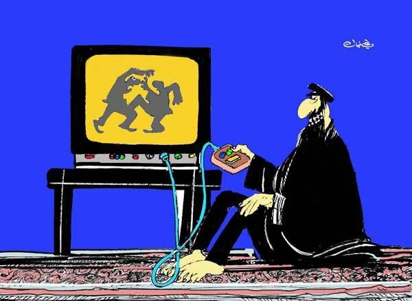 ali ferzat - علي فرزات-  كاريكاتير - ديننجي - 55