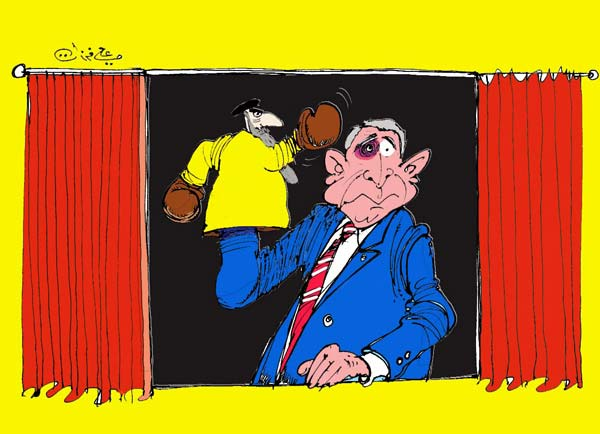 ali ferzat - علي فرزات-  كاريكاتير - ديننجي - 56