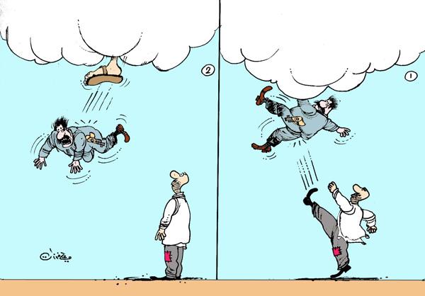 ali ferzat - علي فرزات-  كاريكاتير - عسكرتاريا - 64