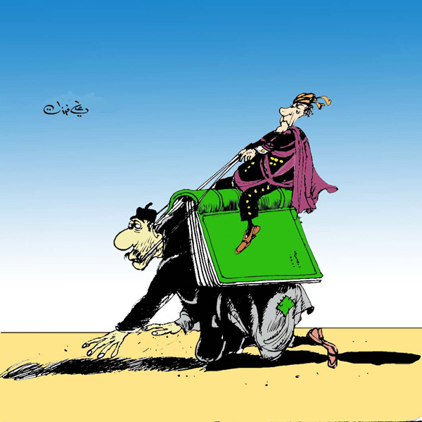 ali ferzat - علي فرزات-  كاريكاتير - سلطة ومواطن - 65