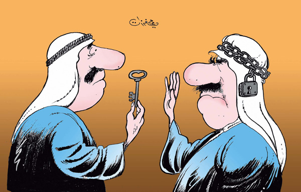 ali ferzat - علي فرزات-  كاريكاتير - عرب - 77