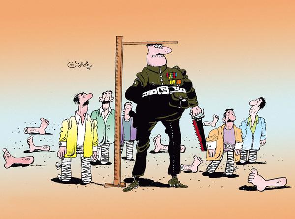 ali ferzat - علي فرزات-  كاريكاتير - العالم الثالث - 81