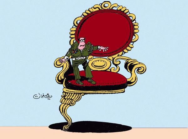 ali ferzat - علي فرزات-  كاريكاتير - عسكرتاريا - 90