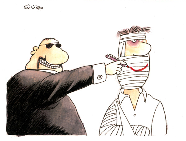 ali ferzat - علي فرزات-  كاريكاتير - سلطة ومواطن - 91