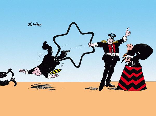 ali ferzat - علي فرزات-  كاريكاتير - عسكرتاريا - 92