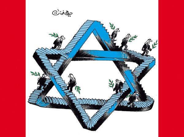 ali ferzat - علي فرزات-  كاريكاتير - اسرائيل - 94