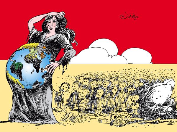 ali ferzat - علي فرزات-  كاريكاتير - فقراء - 95