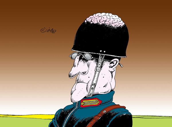 ali ferzat - علي فرزات-  كاريكاتير - عسكرتاريا - 97