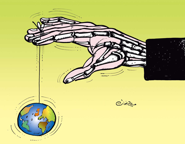 ali ferzat - علي فرزات-  كاريكاتير - ارهاب - 98