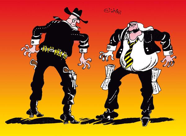 ali ferzat - علي فرزات-  كاريكاتير - حرب - 99