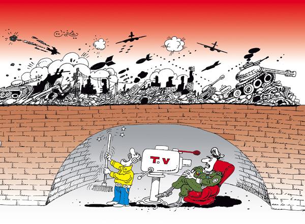 ali ferzat - علي فرزات-  كاريكاتير - حرب - 102