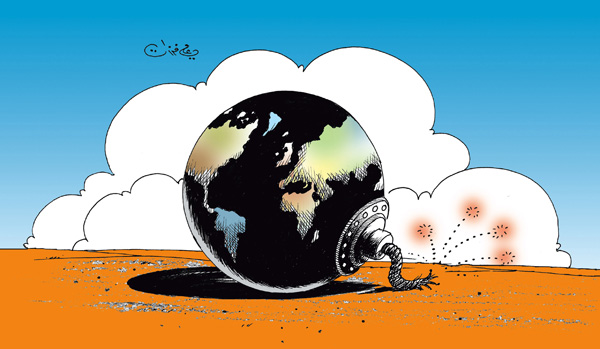 ali ferzat - علي فرزات-  كاريكاتير - ارهاب - 103