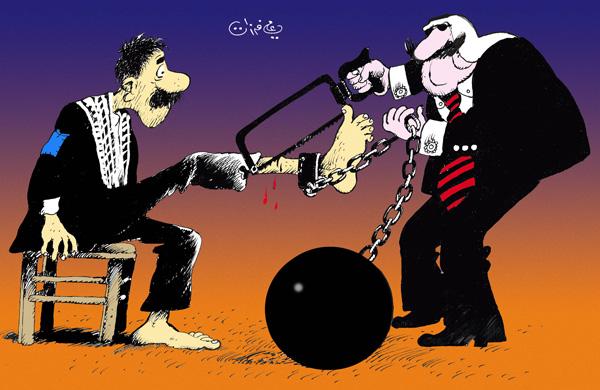 ali ferzat - علي فرزات-  كاريكاتير - فلسطين - 104