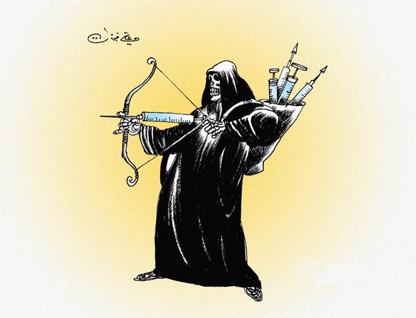 ali ferzat - علي فرزات-  كاريكاتير - ارهاب - 106