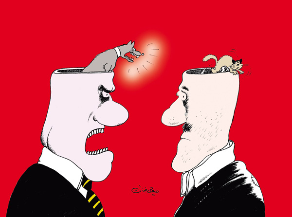 ali ferzat - علي فرزات-  كاريكاتير - قمع - 107