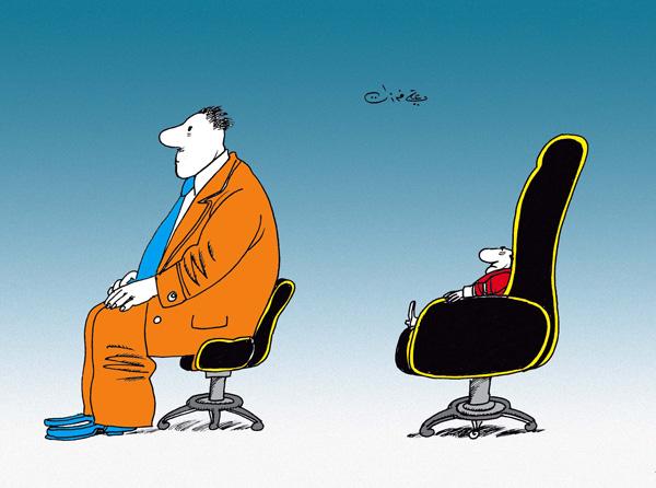 ali ferzat - علي فرزات-  كاريكاتير - كراسي - 113