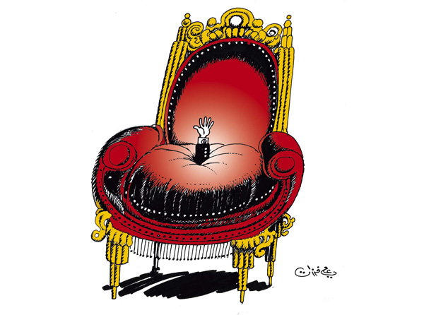 ali ferzat - علي فرزات-  كاريكاتير - كراسي - 114