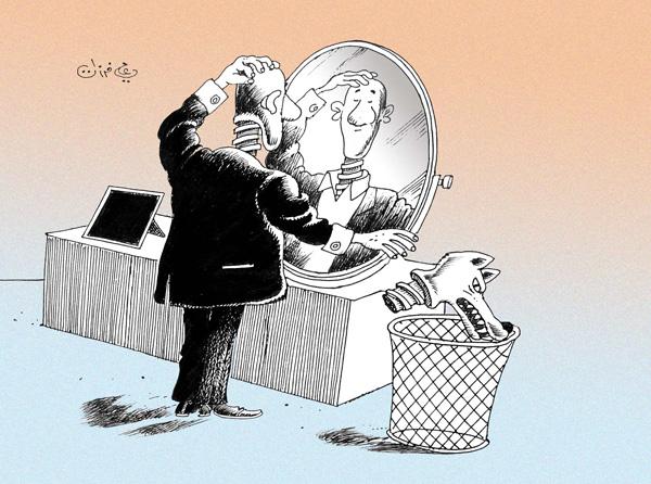 ali ferzat - علي فرزات-  كاريكاتير - مسؤول - 118