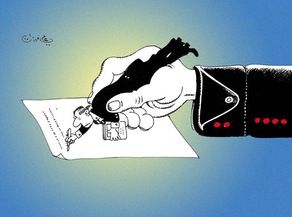 ali ferzat - علي فرزات-  كاريكاتير - عسكرتاريا - 124