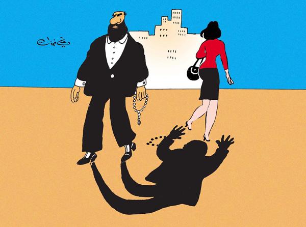 ali ferzat - علي فرزات-  كاريكاتير - ديننجي - 126