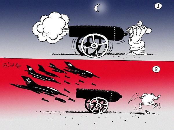 ali ferzat - علي فرزات-  كاريكاتير - حرب - 128