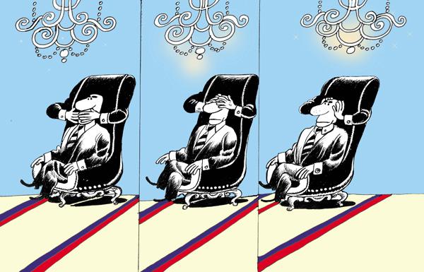 ali ferzat - علي فرزات-  كاريكاتير - كراسي - 129