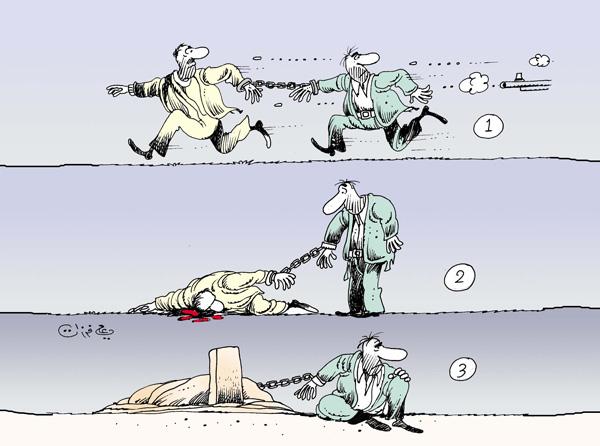 ali ferzat - علي فرزات-  كاريكاتير - قمع - 130