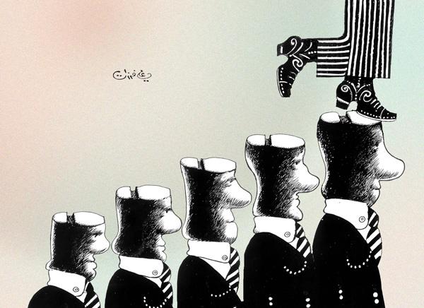 ali ferzat - علي فرزات-  كاريكاتير - احزاب سلطة - 133