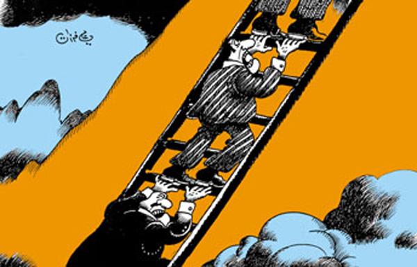 ali ferzat - علي فرزات-  كاريكاتير - كراسي - 146