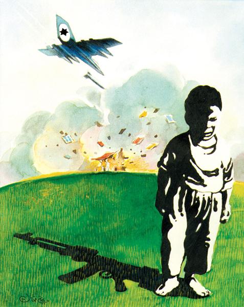 ali ferzat - علي فرزات-  كاريكاتير - فلسطين - 148