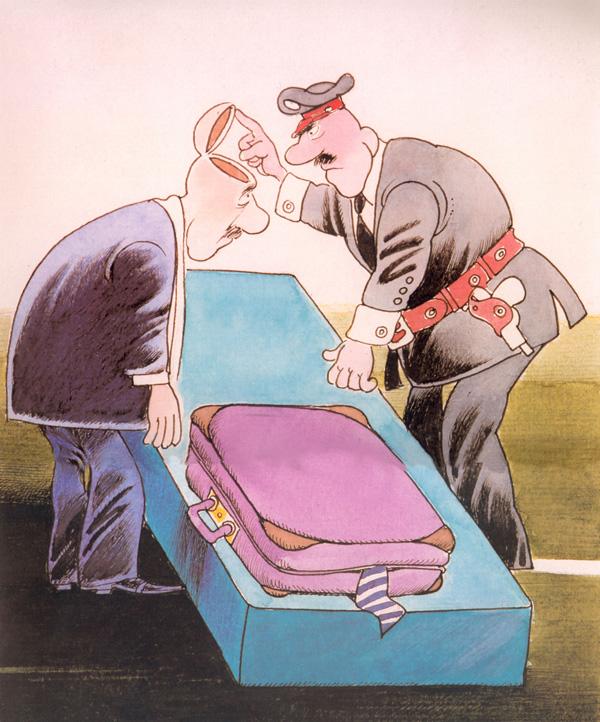 ali ferzat - علي فرزات-  كاريكاتير - سلطة ومواطن - 149