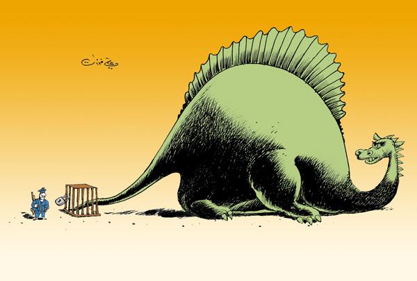 ali ferzat - علي فرزات-  كاريكاتير - ارهاب - 150