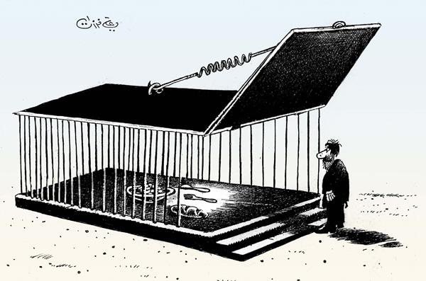 ali ferzat - علي فرزات-  كاريكاتير - حرية - 156