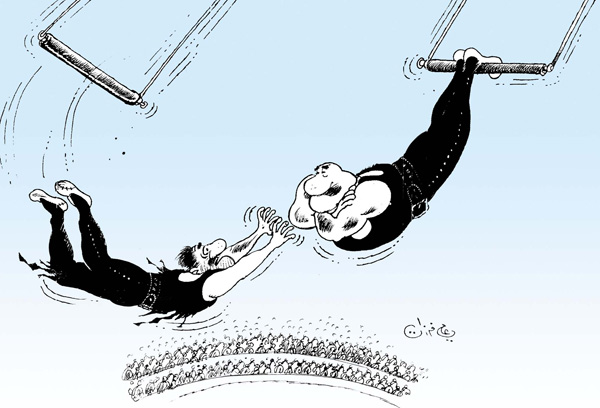 ali ferzat - علي فرزات-  كاريكاتير - سلطة ومواطن - 159