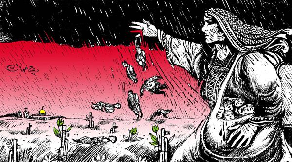 ali ferzat - علي فرزات-  كاريكاتير - فلسطين - 166
