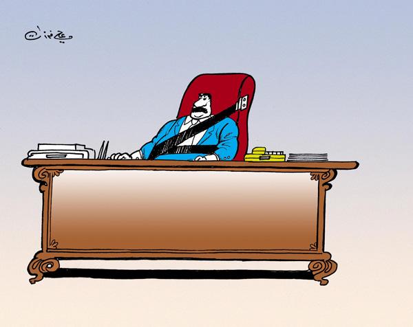 ali ferzat - علي فرزات-  كاريكاتير - كراسي - 175