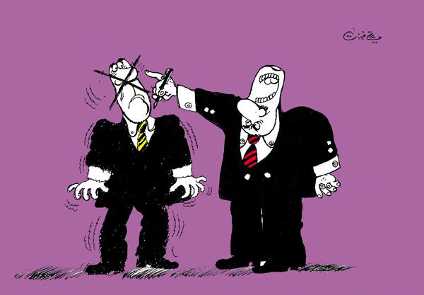 ali ferzat - علي فرزات-  كاريكاتير - سلطة ومواطن - 178