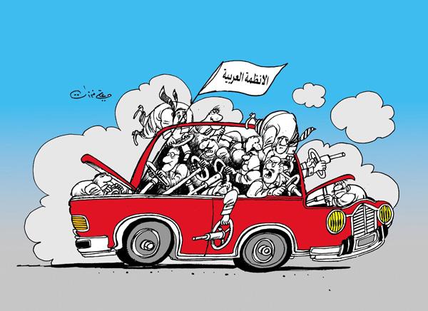 ali ferzat - علي فرزات-  كاريكاتير - احزاب سلطة - 182