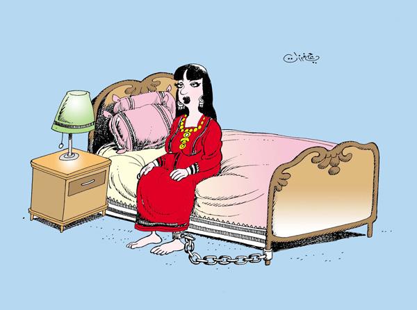 ali ferzat - علي فرزات-  كاريكاتير - قمع - 184