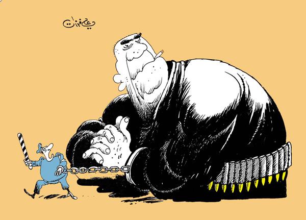 ali ferzat - علي فرزات-  كاريكاتير - ارهاب - 185