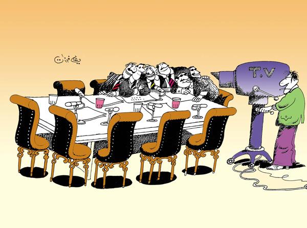 ali ferzat - علي فرزات-  كاريكاتير - سلطة - 189