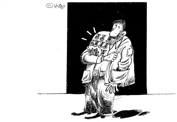 ali ferzat - علي فرزات-  كاريكاتير - فكر - 209