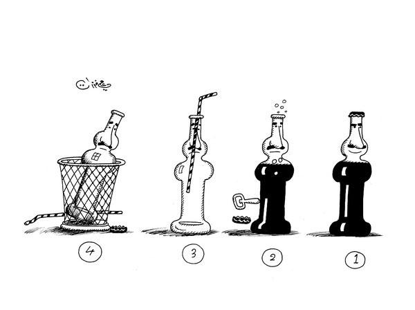 ali ferzat - علي فرزات-  كاريكاتير - فقراء - 210