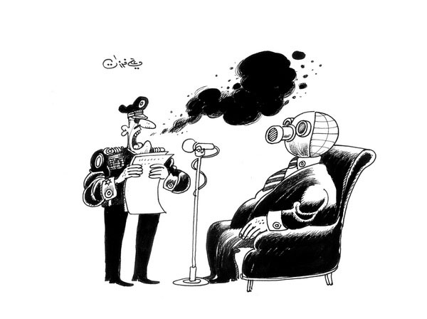 ali ferzat - علي فرزات-  كاريكاتير - عسكرتاريا - 214