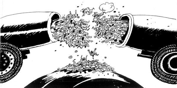 ali ferzat - علي فرزات-  كاريكاتير - حرب - 217